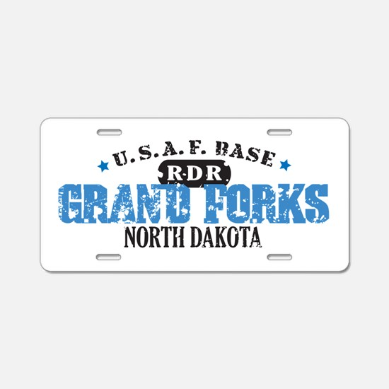 Grand Forks Air Force Base Aluminum License Plate