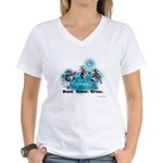 Moonlight Cows Women's V-Neck T-Shir