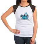 Moonlight Cows Women's Cap Sleeve T-