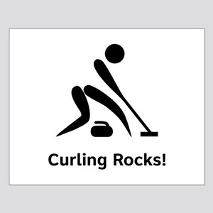 Curling Rocks! Small Poster