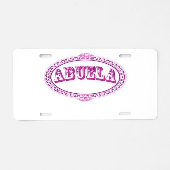 Abuela Aluminum License Plate