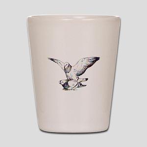 Pigeon Love Shot Glass