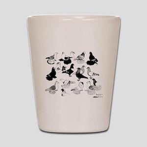 Saxon Color Pigeons Shot Glass