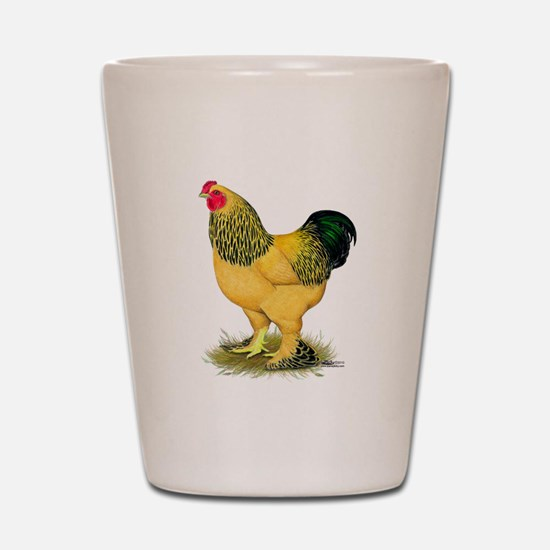 Brahma Buff Rooster Shot Glass