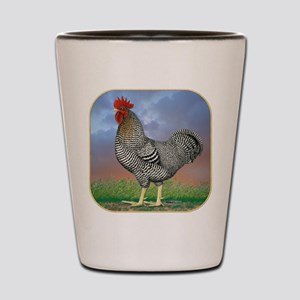 Rooster With Clouds Shot Glass