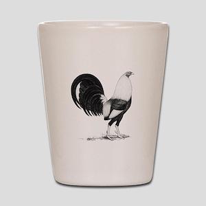Grey American Gamecock Shot Glass