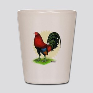 Red Gamecock2 Shot Glass