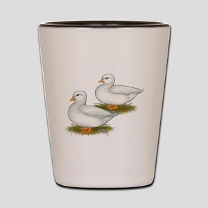 White Call Ducks Shot Glass