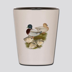 Pastel Call Duck Family Shot Glass