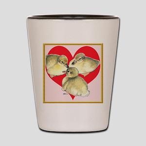 I Love Ducklings! Shot Glass