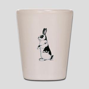 Black and White Rabbit Shot Glass
