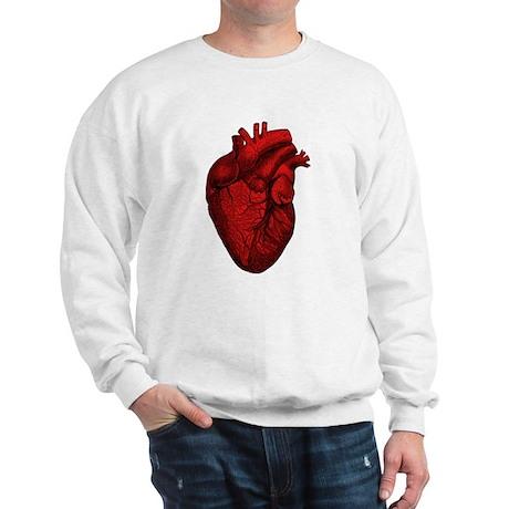 Vintage Anatomical Human Heart Sweatshirt