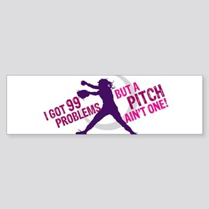 FASTPITCH SOFTBALL Sticker (Bumper)