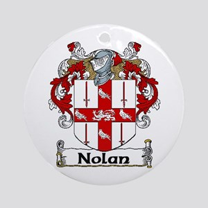 Nolan Coat of Arms Ornament (Round)