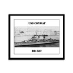 USS CONWAY Framed Panel Print