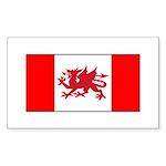 Welsh Canadian Sticker (Rectangle 10 pk)
