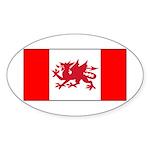 Welsh Canadian Sticker (Oval 10 pk)