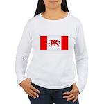 Welsh Canadian Women's Long Sleeve T-Shirt