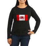 Welsh Canadian Women's Long Sleeve Dark T-Shirt