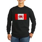 Welsh Canadian Long Sleeve Dark T-Shirt