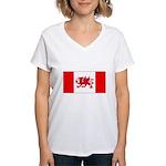 Welsh Canadian Women's V-Neck T-Shirt