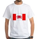 Welsh Canadian White T-Shirt