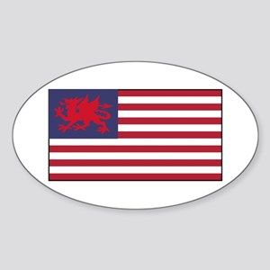 Welsh American Sticker (Oval)