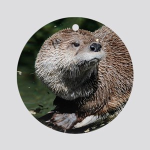 Northern River Otter Ornament (Round)