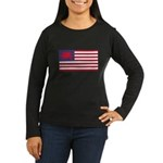 Welsh American Women's Long Sleeve Dark T-Shirt