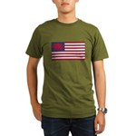 Welsh American Organic Men's T-Shirt (dark)