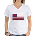 Welsh American Women's V-Neck T-Shirt