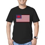 Welsh American Men's Fitted T-Shirt (dark)