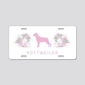 """""""Elegant"""" Rottweiler Aluminum License Plate"""