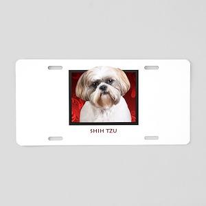 Shih Tzu Aluminum License Plate