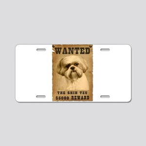 """Wanted""Shih Tzu Aluminum License Plate"