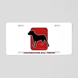 Staffordshire Bull Terrier Aluminum License Plate