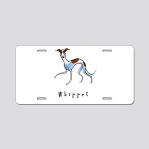 Whippet Illustration Aluminum License Plate