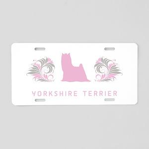 """""""Elegant"""" Yorkshire Terrier Aluminum License Plate"""