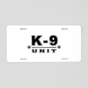 K-9 UNIT Aluminum License Plate