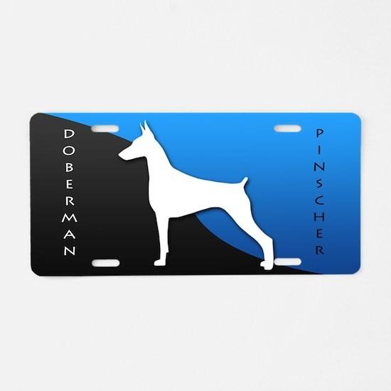 Doberman Pinscher Aluminum License Plate