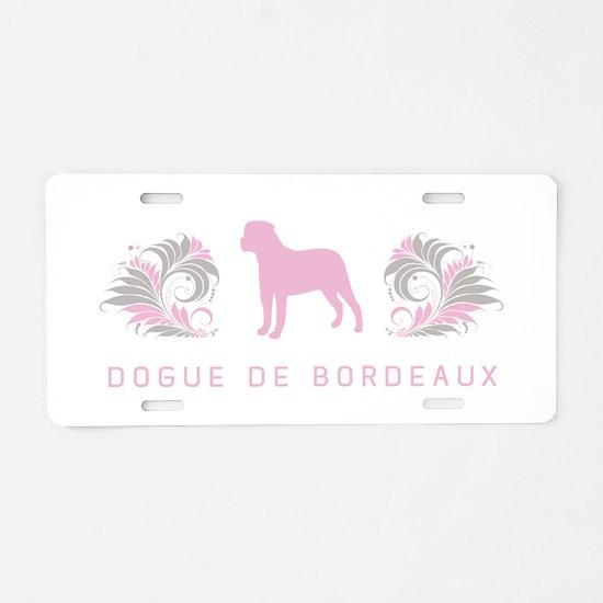 """""""Elegant"""" Dogue de Bordeaux Aluminum License Plate"""