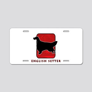 English Setter Aluminum License Plate