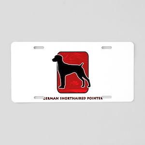 German Shorthaired Pointer Aluminum License Plate
