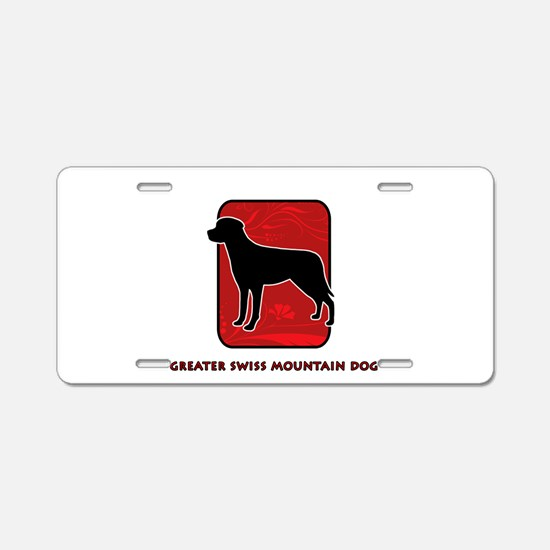 Greater Swiss Mountain Dog Aluminum License Plate