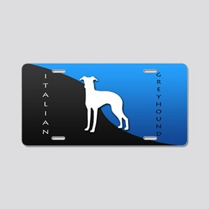 Italian Greyhound Aluminum License Plate