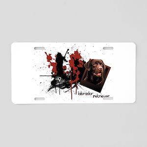 Chocolate Labrador Aluminum License Plate