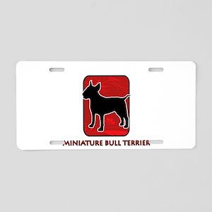 Miniature Bull Terrier Aluminum License Plate