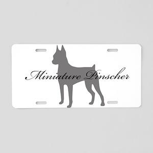 Miniature Pinscher Aluminum License Plate