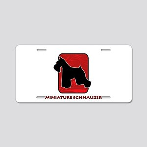 Miniature Schnauzer Aluminum License Plate