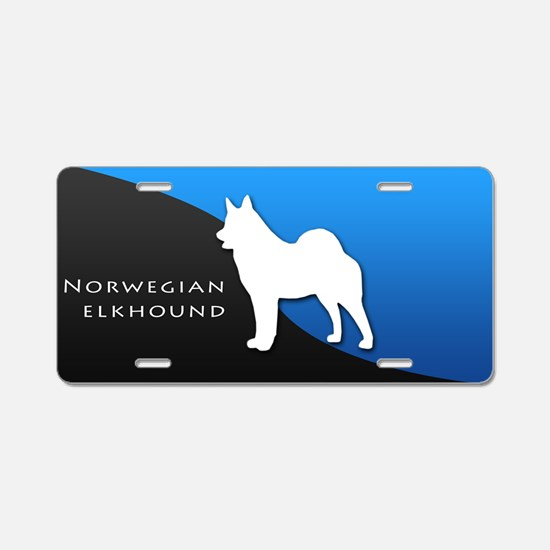 Norwegian Elkhound Aluminum License Plate